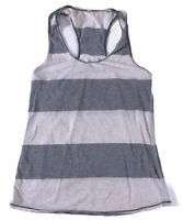 Lululemon Women's 6 Gray Superb Bold Striped  Heathered Angel Racerback Tank Top