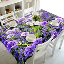 Mysterious Purple3D Tablecloth Table cover Cloth Rectangle Wedding Party Banquet