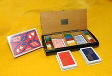 """Scatola da gioco in legno marca """" DAL NEGRO """" Treviso - PLAVING CARDES - Anni 60"""