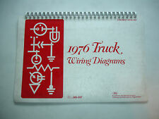 1976 Ford Truck W Series Factory Wiring Diagram Service Schematic Manual Shop