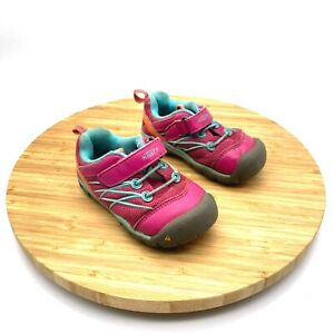 Keen #CNX1014-449 Kids Chandler Lace Up Hook And Loop Hiking Shoes Size 7
