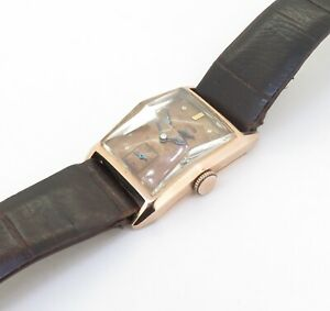 Vintage Bulova Sub Second 14k Pink Gold Ladies 21 x 32mm Watch  $1N/R