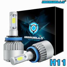 IRONWALLS H11 195000LM LED Headlight Kits Bulbs H9 H8 6000K VS HID 35W 55W Fog