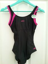 95cd57e74 Nabaiji Womens Black Pink Mix Swimming Costume Size xS BNWT