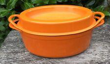 Orange Cousances Le Creuset 4 Litre 3.5 Quarts Doufeu Casserole Dish Stew Pot