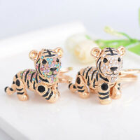 New Key Chains Tiger Keyring Purse Bag Crystal Charm Pendant Necklace Gift S