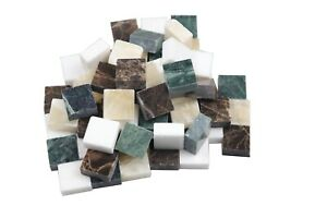 Square Marble Mosaic Tiles Tessera For Wall Arts DIY Hand Crafting 50PCS/0.44lb