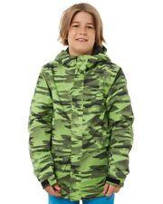 New Rip Curl Boys Enigma Junior Snow Jacket Mesh Green 6