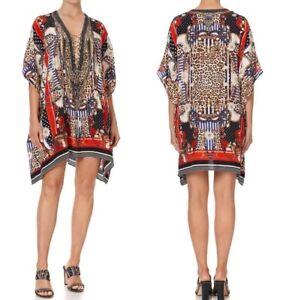 Brand New Camilla Dear Brigitte Short Lace Up Kaftan RRP $579