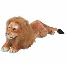 vidaXL Lion en peluche Marron XXL Grand nounours pour enfants fille garçon