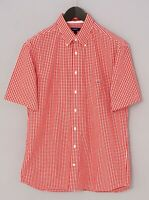 Men Gant Casual Shirt The Gingham Short Sleeves Cotton L XMS833
