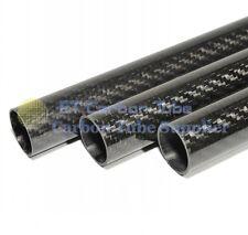 2PCS 20MM OD x 14MM ID Carbon Fiber Tube 3k 500MM Long 100% Carbon DIY for RC
