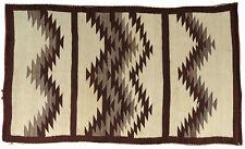 "Antique Navajo Two Gray Hill Native American Indian Pueblo Wool Rug - 46"" x 75"""