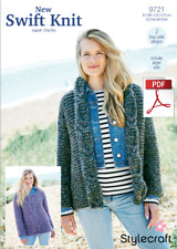 9721 Knitting Pattern - Jacket And Sweater in New Swift Knit Super Chunky