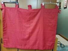 3 Red Curtain Panels 35 Long X 42 Wide room essentials