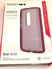 Tech21 Evo Shell Case for Moto Droid Maxx 2 Smokey Red T21-4489