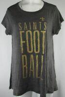 New Orleans Saints NFL Women's G-III Short Sleeve T-Shirt Gray S-2XL