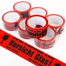 """72 ROTOLI /""""ATTENZIONE VETRO/"""" pacchetto pacchetto nastro nastro 50mm x 66m Nastro Adesivo Tape"""