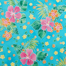 Robert Kaufman ISLAND SANCTUARY tropical floral flower hibiscus palm leaf fabric