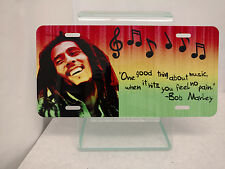 Bob Marley High Gloss License Plate Music