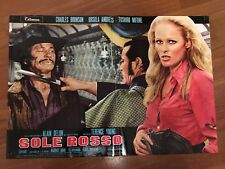 FOTOBUSTA,SOLE ROSSO SOLEIL ROUGE CHARLES BRONSON ANDRESS,A.DELON TOSHIRO MIFUNE