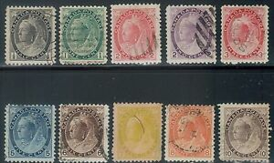 TMM* 1898-1902 Canada Stamp collection S#74-83 used/hinge/medium cancel F/VF