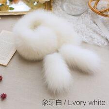 SCM045  fashion women's real fox fur scarves collars winter girls neck warm wrap