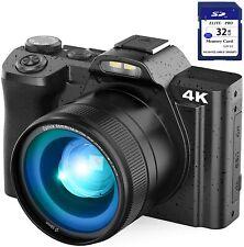 4K Digital Camera Video Camera for YouTube, Kenuo 48MP Vlogging Camera Camcorder