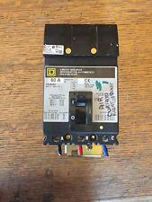 60 AMP 3 Phase circuit breaker FA36060 Square D