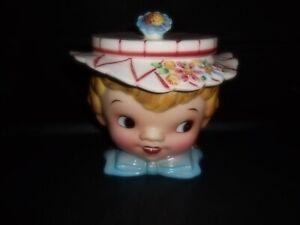 Vintage LEFTON MISS DAINTY Hand Painted COOKIE JAR #040
