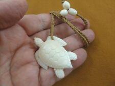 aceh bovine bone Jewelry turtles (Jba-01-D) white Sea Turtle Pendant Necklace