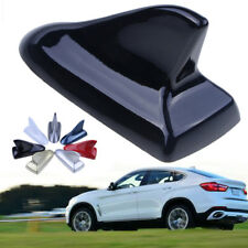 Black Decorative Car Roof Top Shark Fin Antenna Dummy Aerial Trim Tape Universal