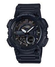 AEQ-110W-1B Black Casio Men's Watches Resin Band