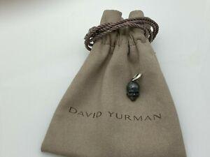 David Yurman Men's Blackened Small Skull Pendant in 925 Sterling Silver