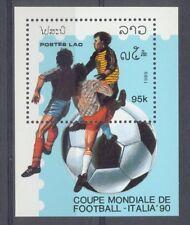 Laos Fussball  Fußball 1989 Block  postfrisch  **