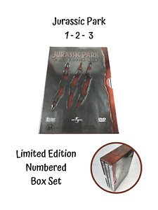 Limited Edition Jurassic Park Collector Box 2002 Release 3 DVD Collectable Set