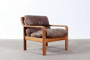 50s60s Leder Sessel Chair Teak Danish Design Mid Century Vintage
