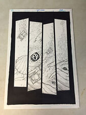 THUNDERCATS #5 PG #9 original art, PANTHRO, THUNDERTANK SINKING, GIANT WHALE