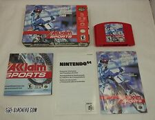 Jeremy McGrath SUPERCROSS 2000 Nintendo 64 COMPLETE IN BOX MotoCross N64 D JETER