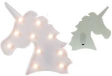 2 x Unicorn Head Table Lamp LED Night Light Girls Kids Bedroom Decor Warm White