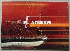 TRIUMPH TR6 PI SPORTS Car Sales Brochure Jan 1974 #T909/174/ENG