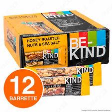 Be-Kind Snack Frutta Secca Tostata al Miele Sale Marino - Box da 12 Barrette 40g
