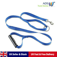 Dog Strong Training Belt Rope Slip Clip Lead 2M Blue With Holder