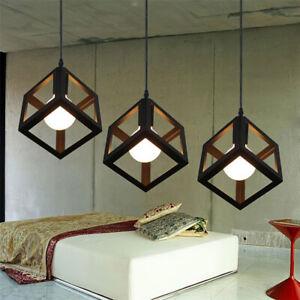 Modern Black Framework Single Pendant Light Hanging Ceiling Lamp Fixture