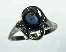 Blue Spinel (Sri Lankan) Genuine Gemstone in Sterling Silver Ring  RSS1085