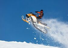 A4  Snow Mobile Jump Poster Size A4 Stunt Snowmobile Sports Poster Gift #15988