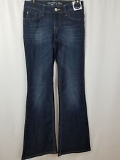 7817ee28 Crafted by Lee Denim Flare Jeans Signature Stretch Dark Wash Women's Size  2M New