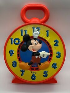 Disney Mickey Mouse Talking Time Chatter Clock See N Say Educational Learning