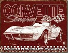 1969 Chevrolet Chevy Corvette Stingray Picture Advertisement Tin Metal Sign
