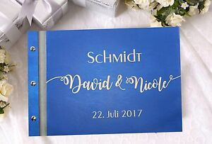 Gästebuch Hochzeit Holz personalisiert Fotobuch Hochzeitsalbum Buch WUNSCHNAME
